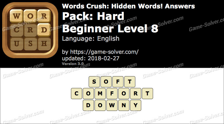 Words Crush Hard-Beginner Level 8 Answers
