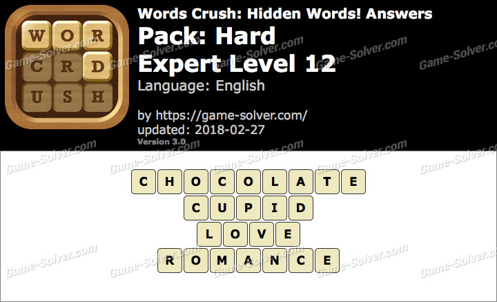 Words Crush Hard-Expert Level 12 Answers