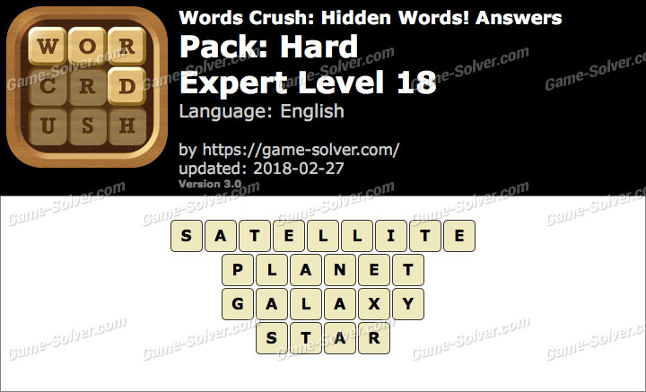 Words Crush Hard-Expert Level 18 Answers