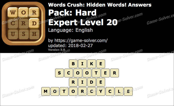 Words Crush Hard-Expert Level 20 Answers