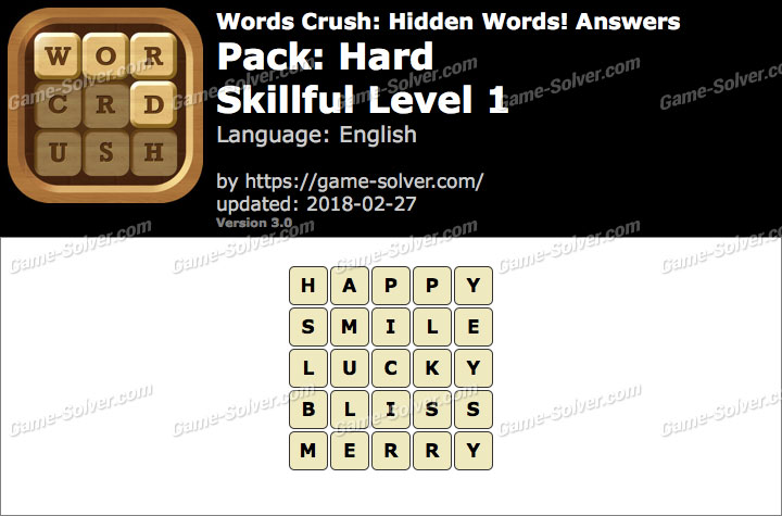 Words Crush Hard-Skillful Level 1 Answers