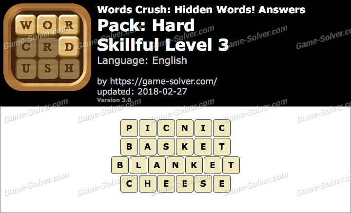 Words Crush Hard-Skillful Level 3 Answers