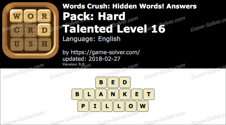 Words Crush Hard-Talented Level 16 Answers