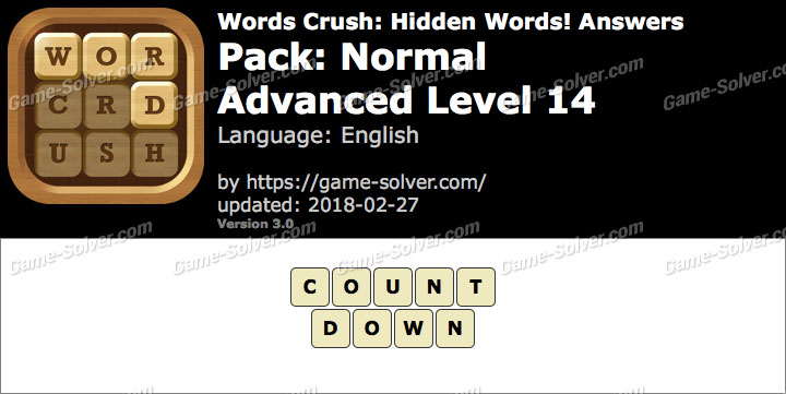 Words Crush Normal-Advanced Level 14 Answers