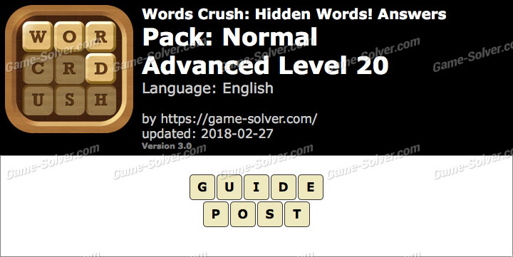 Words Crush Normal-Advanced Level 20 Answers