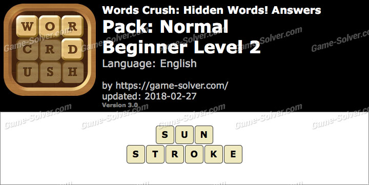Words Crush Normal-Beginner Level 2 Answers