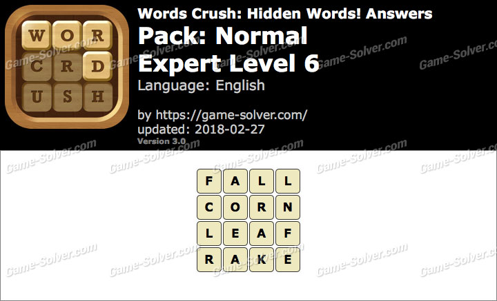 Words Crush Normal-Expert Level 6 Answers