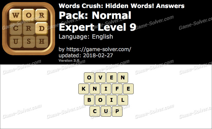 Words Crush Normal-Expert Level 9 Answers