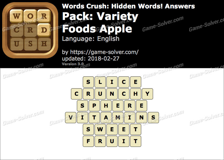 Words Crush Variety-Foods Apple Answers