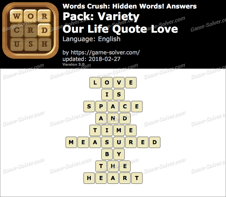 Words Crush Variety-Our Life Quote Love Answers