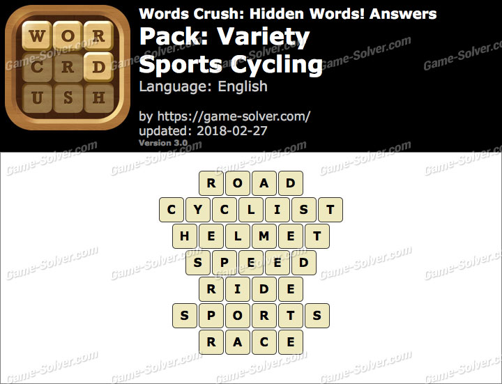 Words Crush Variety-Sports Cycling Answers
