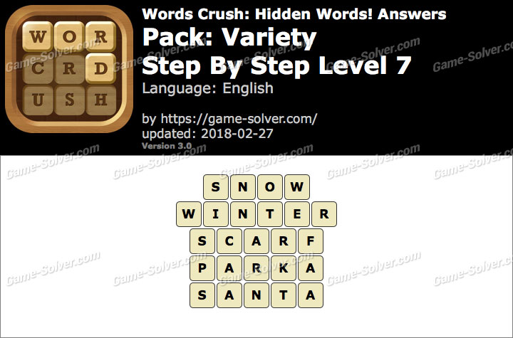 Words Crush Variety-Step By Step Level 7 Answers