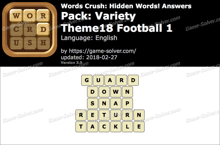 Words Crush Variety-Theme18 Football 1 Answers