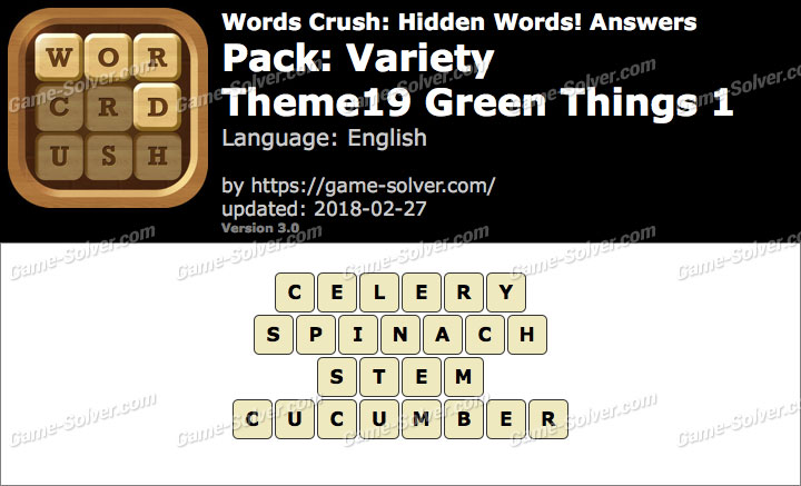 Words Crush Variety-Theme19 Green Things 1 Answers