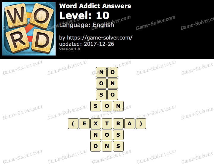 Word Addict Level 10 Answers
