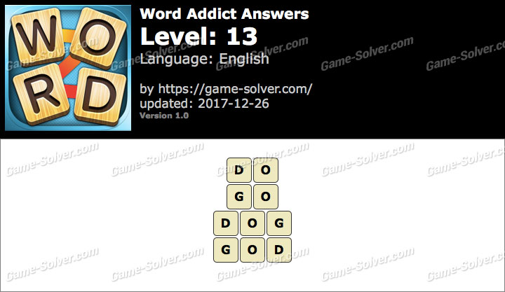Word Addict Level 13 Answers