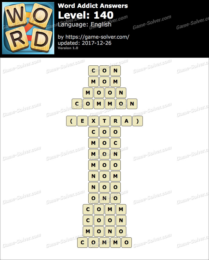 Word Addict Level 140 Answers
