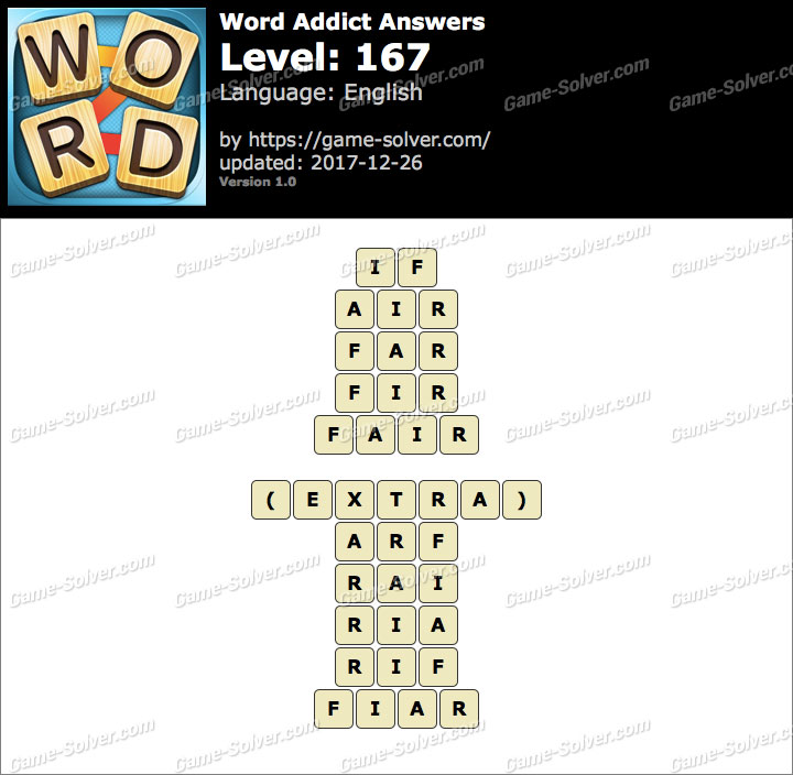 Word Addict Level 167 Answers