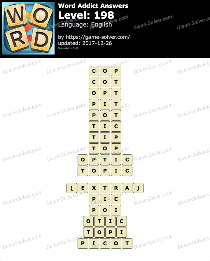Word Addict Level 198 Answers