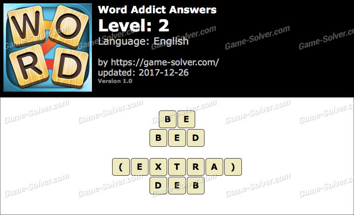 Word Addict Level 2 Answers
