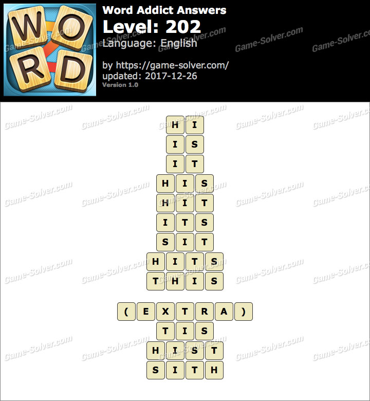 Word Addict Level 202 Answers