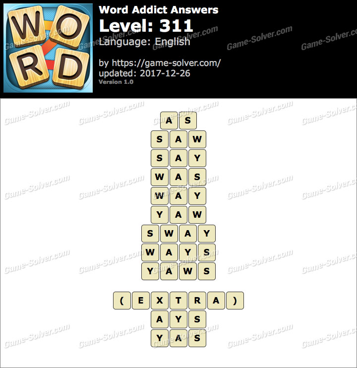 Word Addict Level 311 Answers