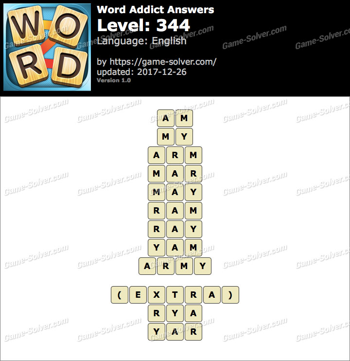 Word Addict Level 344 Answers