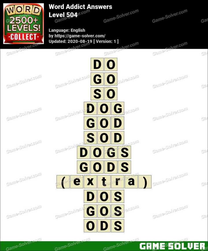 Word Addict Level 504 Answers