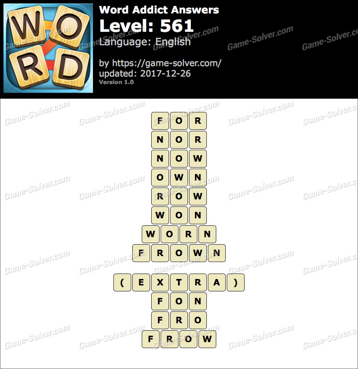 Word Addict Level 561 Answers