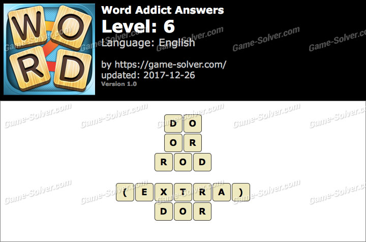 Word Addict Level 6 Answers