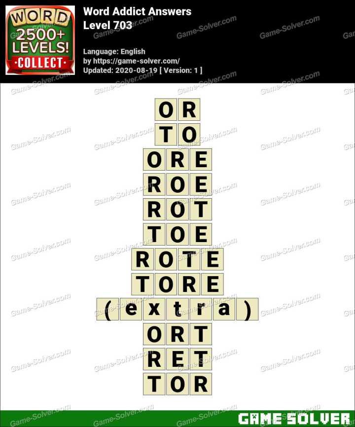 Word Addict Level 703 Answers