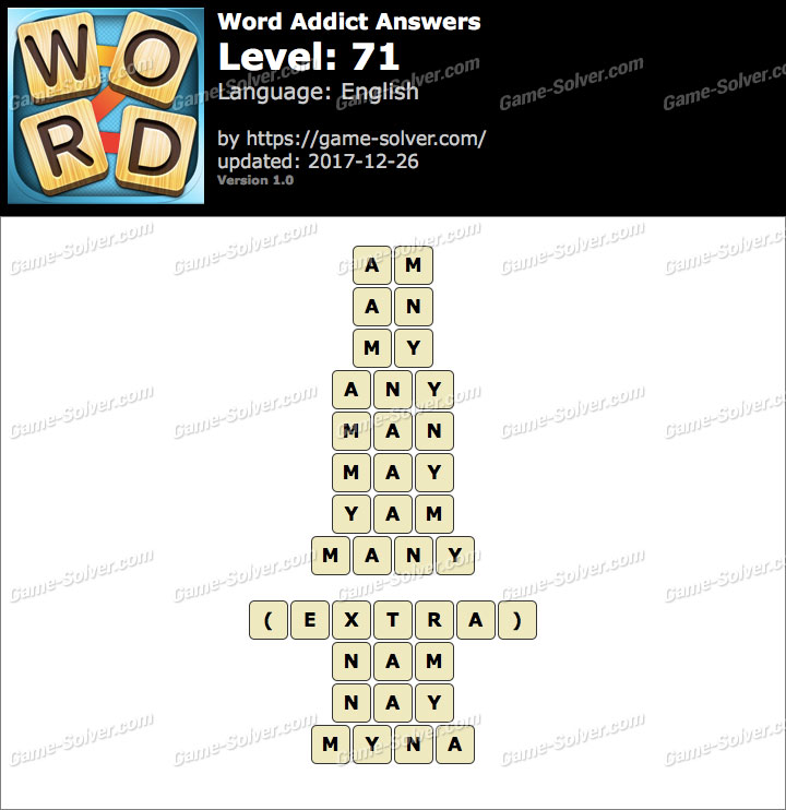 Word Addict Level 71 Answers
