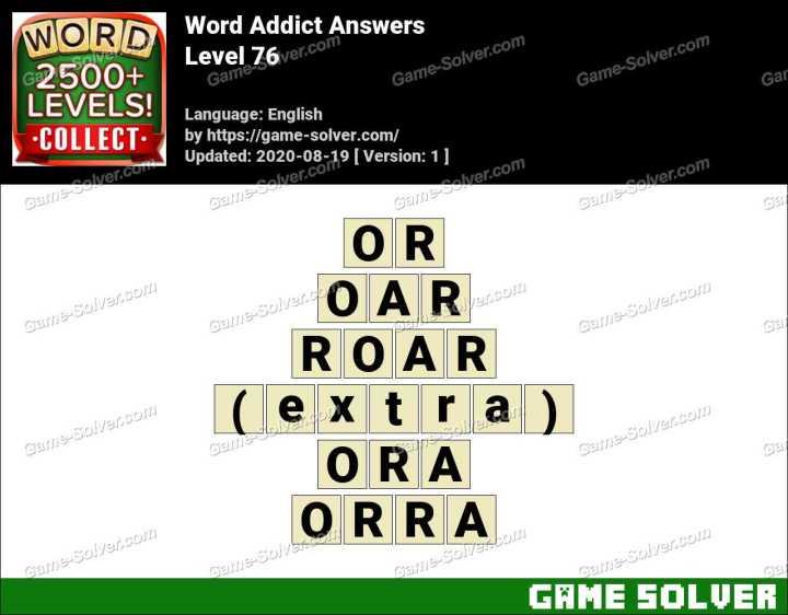 Word Addict Level 76 Answers