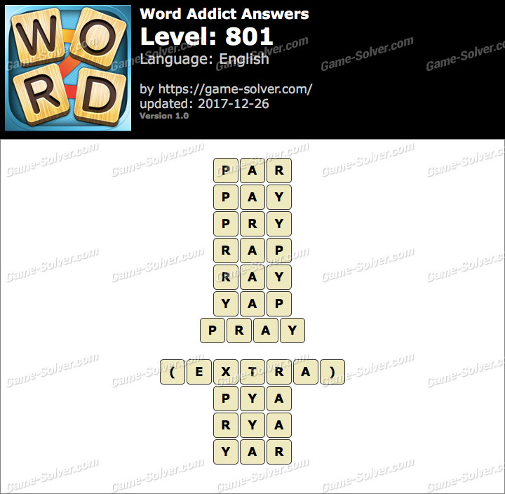 Word Addict Level 801 Answers
