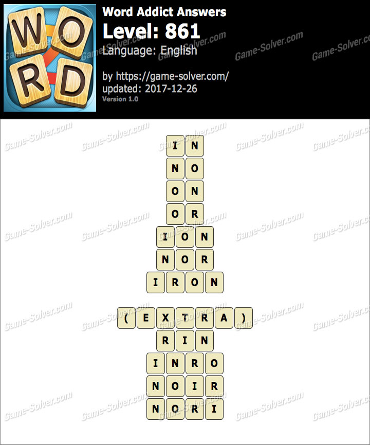 Word Addict Level 861 Answers