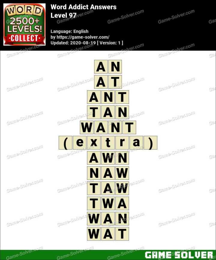 Word Addict Level 97 Answers