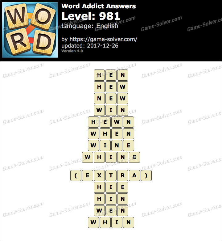 Word Addict Level 981 Answers
