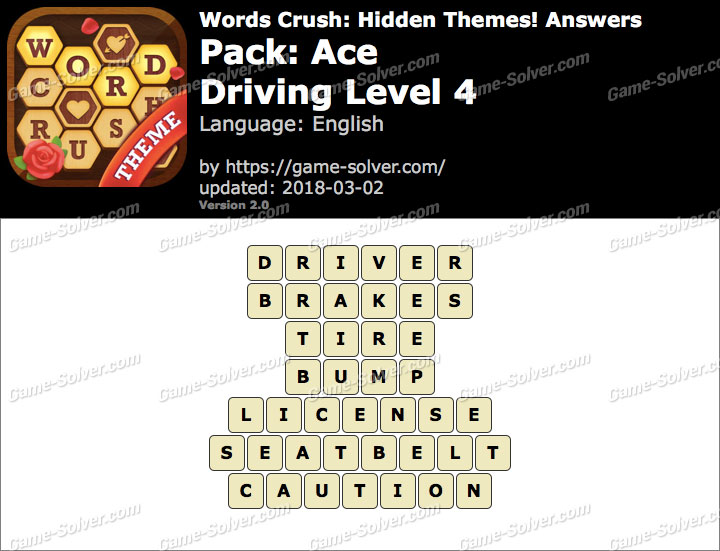 Words Crush Ace-Driving Level 4 Answers
