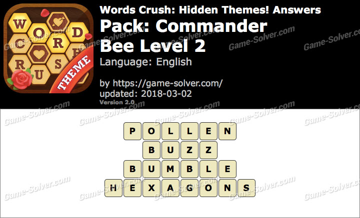 Words Crush Commander-Bee Level 2 Answers