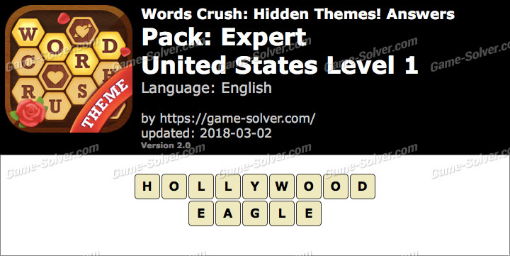 Words Crush Expert-United States Level 1 Answers