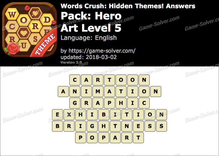 Words Crush Hero-Art Level 5 Answers