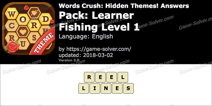 Words Crush Learner-Fishing Level 1 Answers