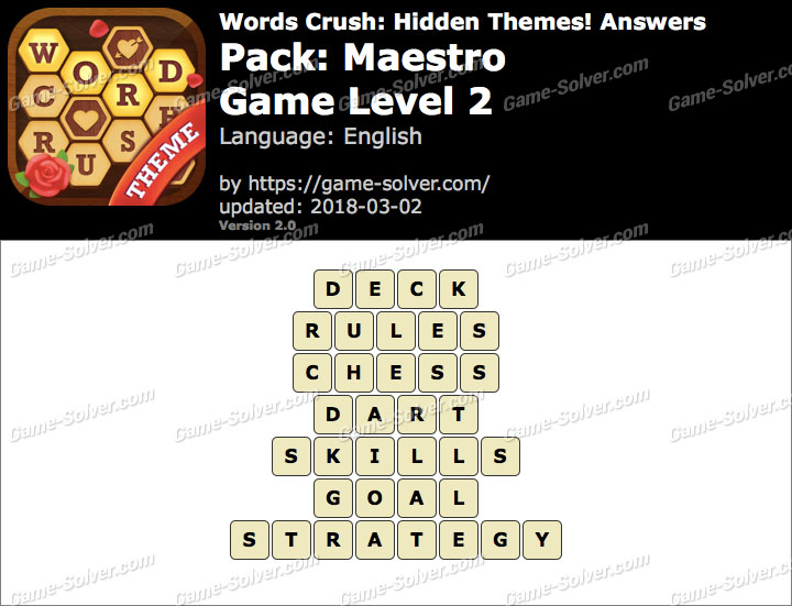 Words Crush Maestro-Game Level 2 Answers