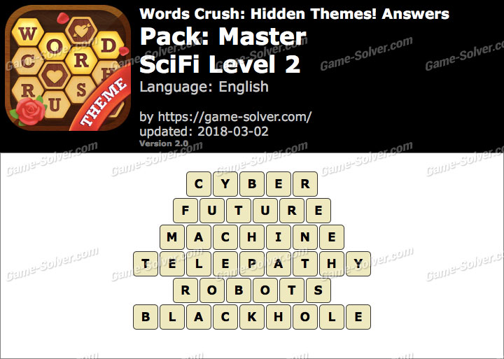 Words Crush Master-SciFi Level 2 Answers