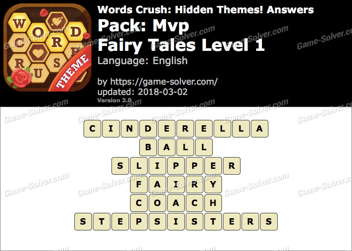 Words Crush Mvp-Fairy Tales Level 1 Answers