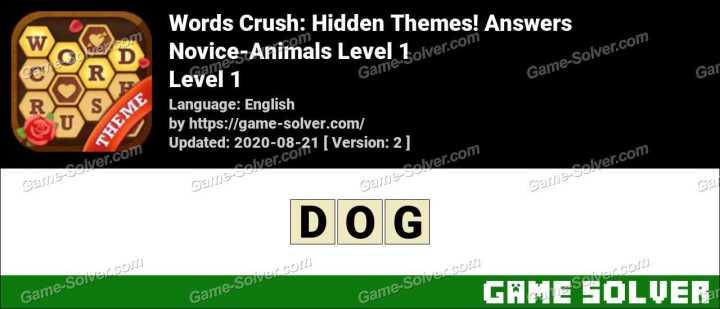 Words Crush Novice-Music Level 1 Answers