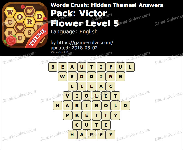 Words Crush Victor-Flower Level 5 Answers