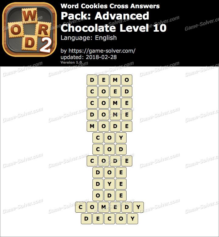 Word Cookies Cross Advanced-Chocolate Level 10 Answers