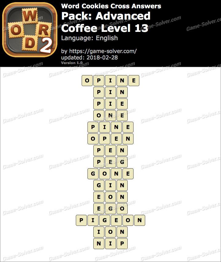 Word Cookies Cross Advanced-Coffee Level 13 Answers
