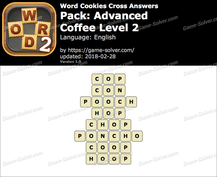 Word Cookies Cross Advanced-Coffee Level 2 Answers